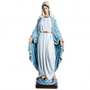 Immaculate Madonna 100cm statue in painted reconstituted marble