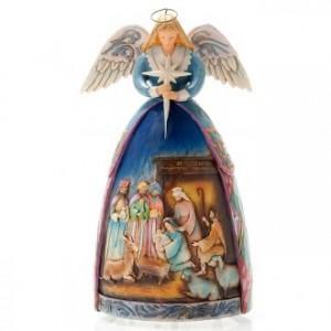 Christmas angel music box, a star shall guide us