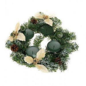 Decorated advent garland