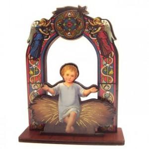 Image of baby Jesus on wood, 11cm