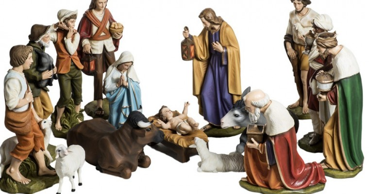 Complete Nativity Sets for those who didn't have time to make their own