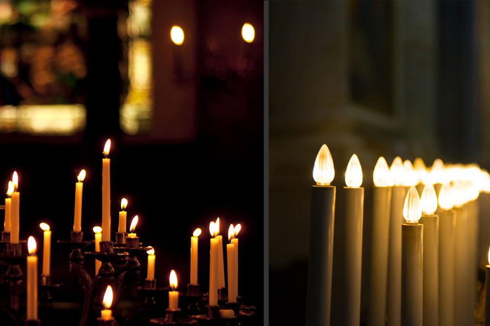 Electric candles: when a cult loses its sacredness - Holyart com