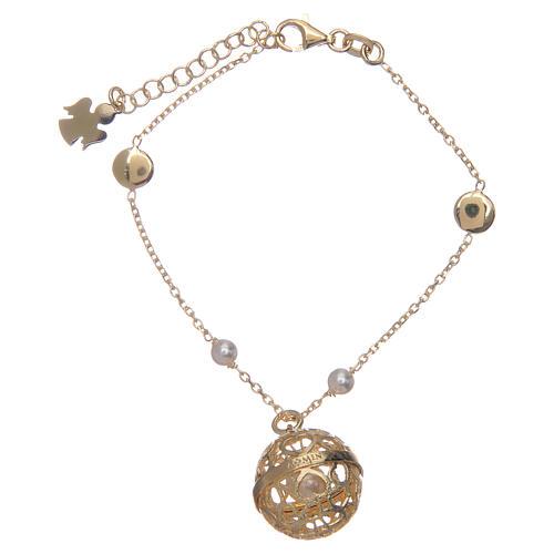 AMEN angel caller bracelet - golden silver 925