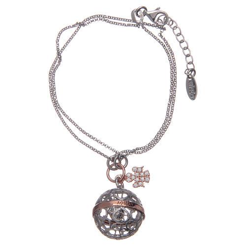 Amen angel caller bracelet Silver pave 925