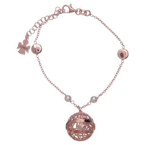 Amen angel caller bracelet in pink Silver 925