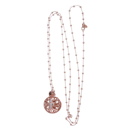 amen necklace calls angels silver 925 roses and zircons