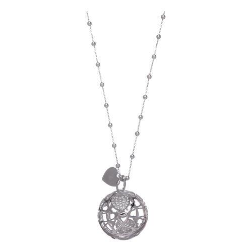 amen necklace calls heart angels and zircons 925 silver