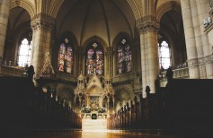 Sacred furniture: typical decors of every Christian church