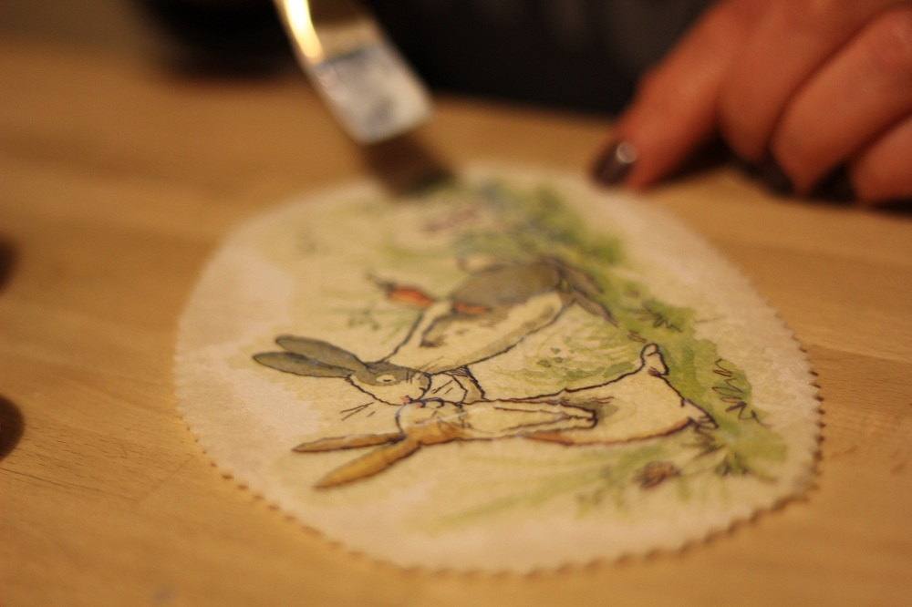 The art of decoupage on cardboard boxes