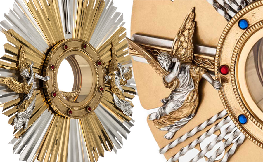 Metal monstrance: the liturgical function
