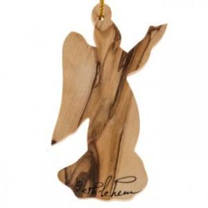 Christmas tree angel decoration Holy Land olive wood